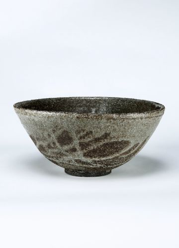 Large Ceramic Rice Bowl in grey