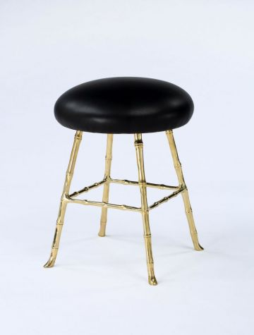 Low Upholstered Bar Stool