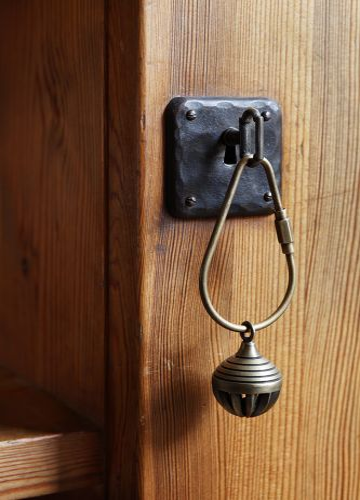 Bell Keyring Brass