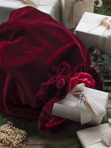 Christmas Sack Burgundy Velvet