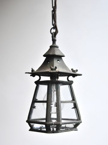Arts & Crafts 'Miniature' Bronze Lantern