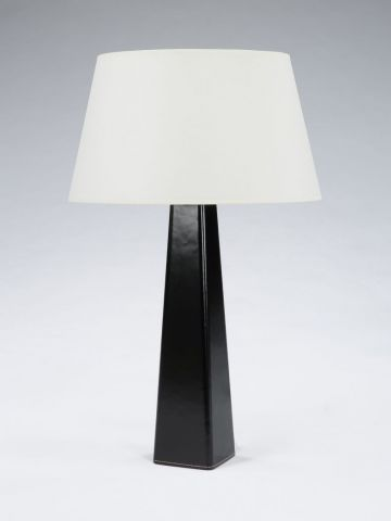 Leather Table Lamp by Rose Uniacke
