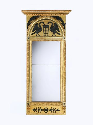 Empire Carved Giltwood Mirror