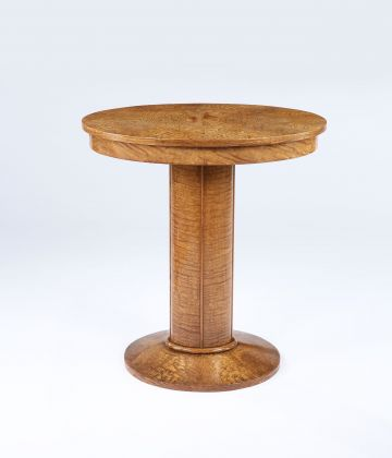 Art Deco Ash Veneer Occasional Table