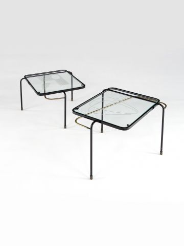 Pair of Nesting Tables by Mathieu Mategot