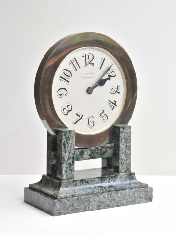Art Deco Marble & Bronze Clock