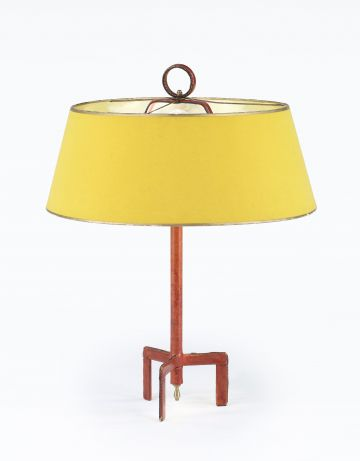 Red Leather Adnet Table Lamp