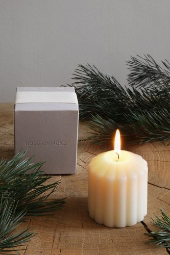 Fluted Candle - Fireside by Rose Uniacke