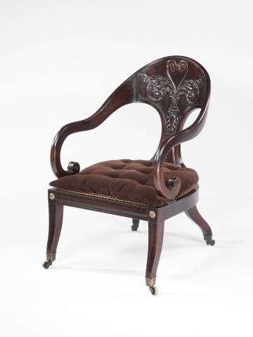 George IV Faux-Rosewood Greek-Revival Armchair