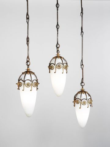 Set of Three Hanging Pendant Lights
