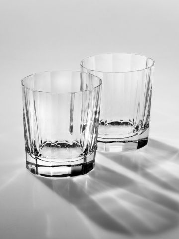 Cut-Glass Lowball Tumbler
