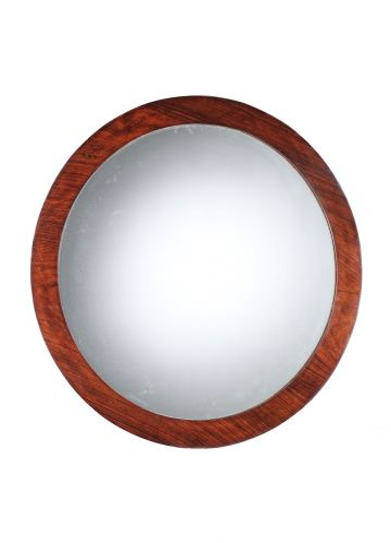 Art Deco Rosewood Round Mirror
