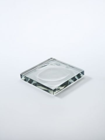 Moulded Glass Tray by Rose Uniacke