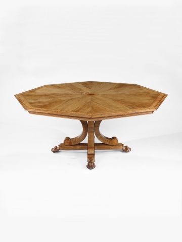 William IV Marquetry Octagonal Centre Table