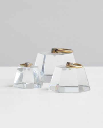 Set of Four Glass Paper Weights