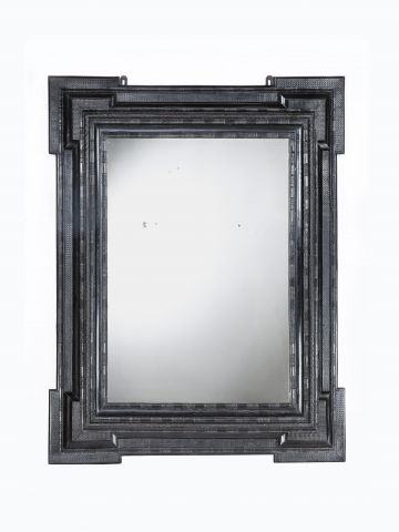 Very Large 19th Century Italian Ripple Frame Mirror