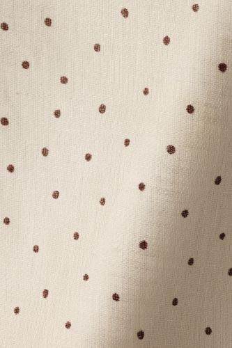 Sheer Linen in Burgundy spot on Chalk by Rose Uniacke