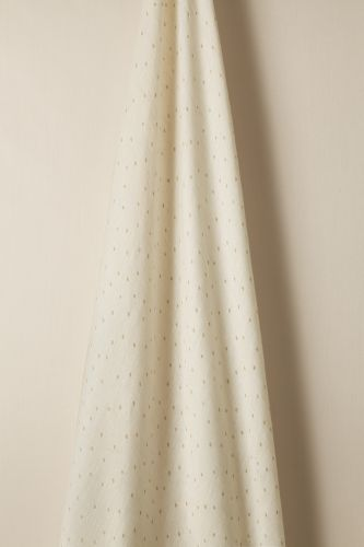 Sheer Linen in Biscuit Spot on Chalk