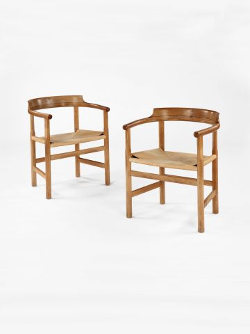 Model PP 62 Oak Armchair by Hans Wegner
