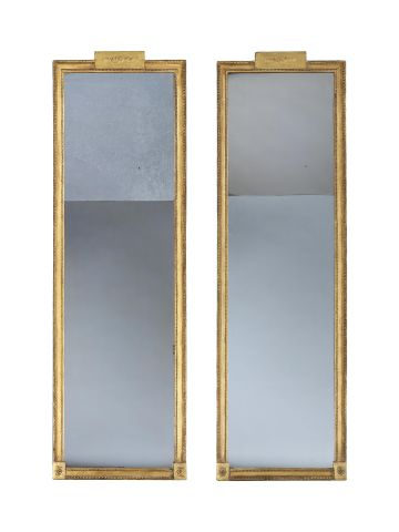 Pair of Late Regency Gilt Gesso Pier Mirrors