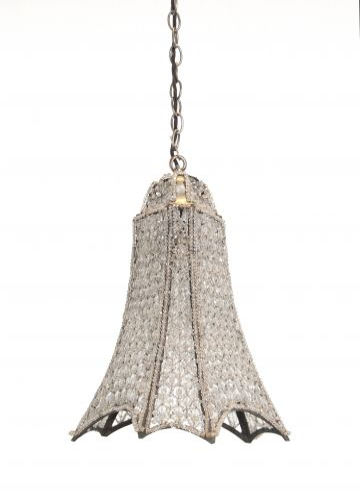 Art Deco Beaded Hanging Light