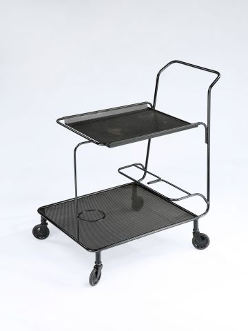 Rare 'Gin' Rigitule Drinks Trolley by Matégot
