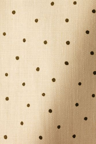 Mid Weight Linen in Olive Spot on Milk
