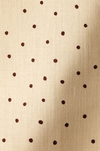 Mid Weight Linen in Burgundy Spot on Milk by Rose Uniacke