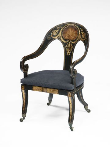 Regency Ebonised Klismos Chair
