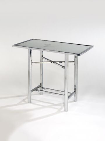 Nickel Plated & Mirrored Occasional Table