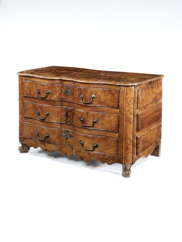 Large 19th Century Burr Elm Commode