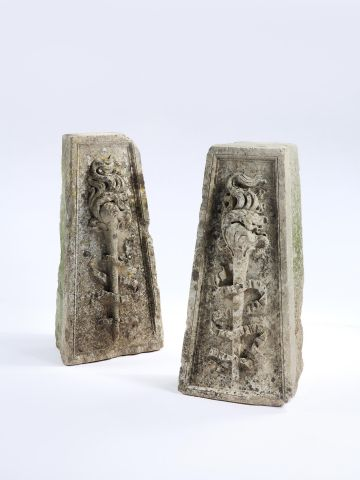 Pair of Regency Carved Stone Bases