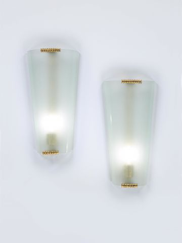Pair of Art Deco Wall lights by Pietro Chiesa for Fontana Arte