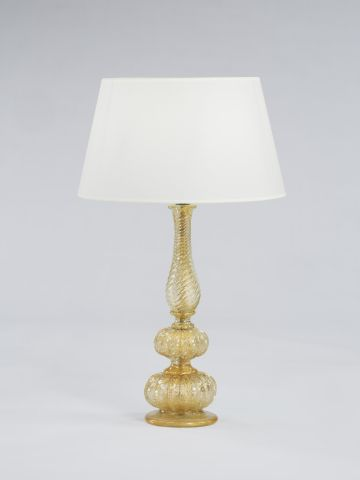 1950's 'Pulegoso' Murano Table Lamp by Barovier & Toso
