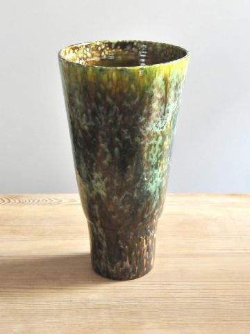 1970's Glazed Accolay Pottery Vase
