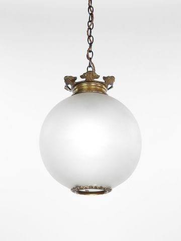 Late 19th Century Opalescent Glass Hanging Light