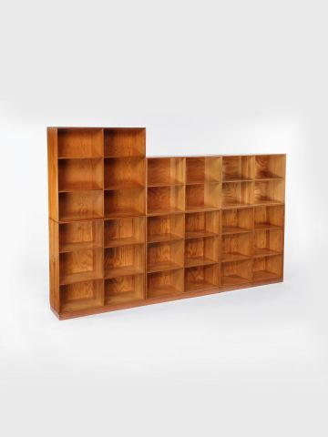 Set of 3 Pine Bookcases by Mogens Koch