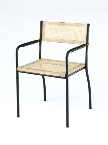 Stitched Armchair in Black by Rose Uniacke