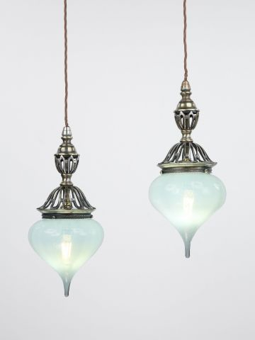 Pair of Hanging Pendant Lights