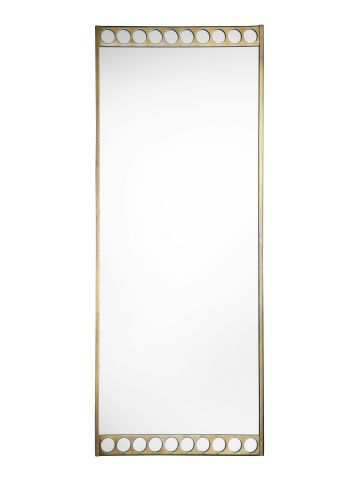Mid-Century Swedish Brass Pier Mirror