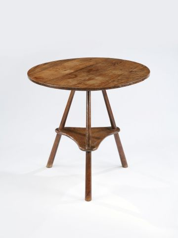 Arts & Crafts Elm Cricket Table