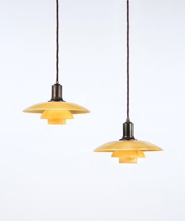 Pair of PH 3-Shade Suspension Lights