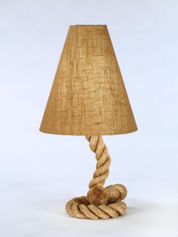 Large 1950's Rope Table Lamp