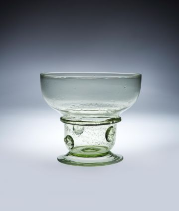 Green Glass Bowl by Edward Spencer