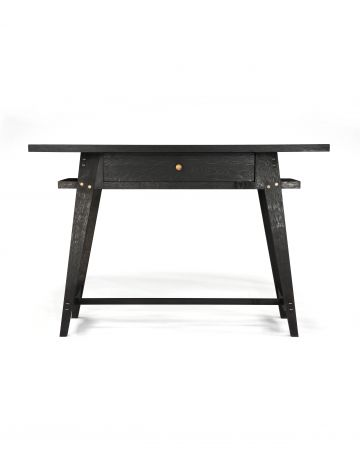 Ebonised Oak Console Table with Drawer