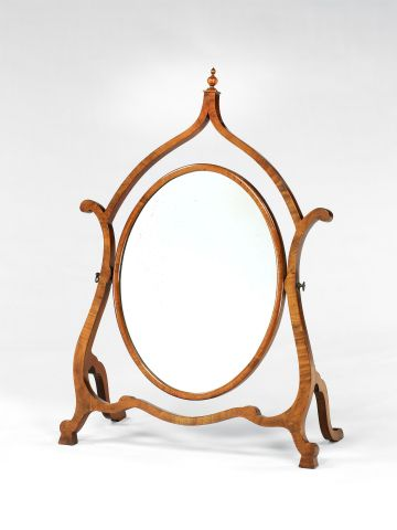 Late 19th Century Walnut Dressing Table Mirror