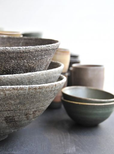 Large Ceramic Rice Bowl in grey_2