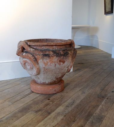 Large Terracotta Compton Pot c1900_1