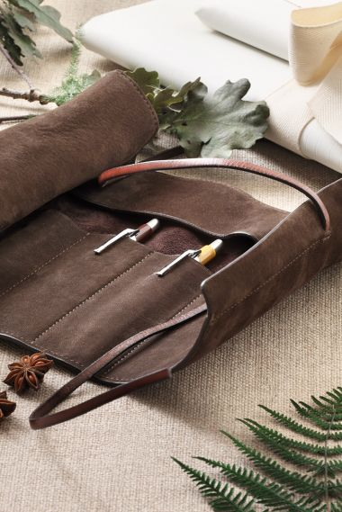 Nubuck Pen & Pencil Roll by Rose Uniacke_1
