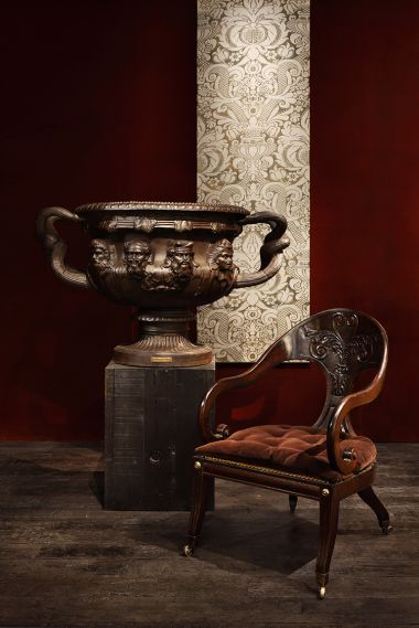 George IV Faux-Rosewood Greek-Revival Armchair_3